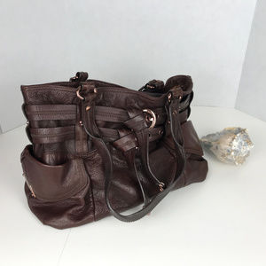b.Makowsky brown leather bag